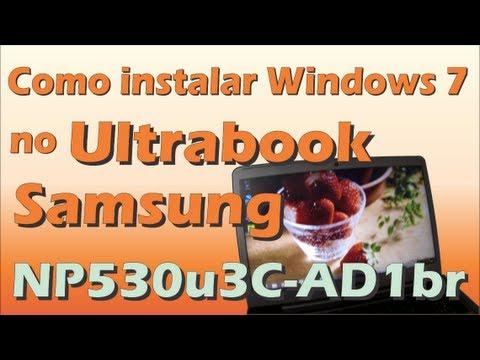 Como instalar Windows 7 no Ultrabook Samsung NP530u3C-AD1br/AD3BR com HD SSD