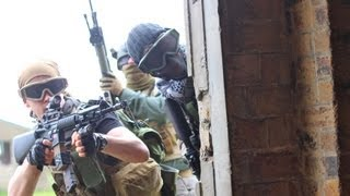 Airsoft War Games Action, Crail, Scotland HD