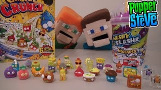 The Grossery Gang Mushy Slushie Corny Chips S1 Chunky Crunch Shopkins Unboxing Puppet Steve