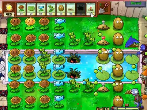 Plantas Vs Zombies - Nivel 3-8 - Por Lolojaja45 - Un reto - Descripción