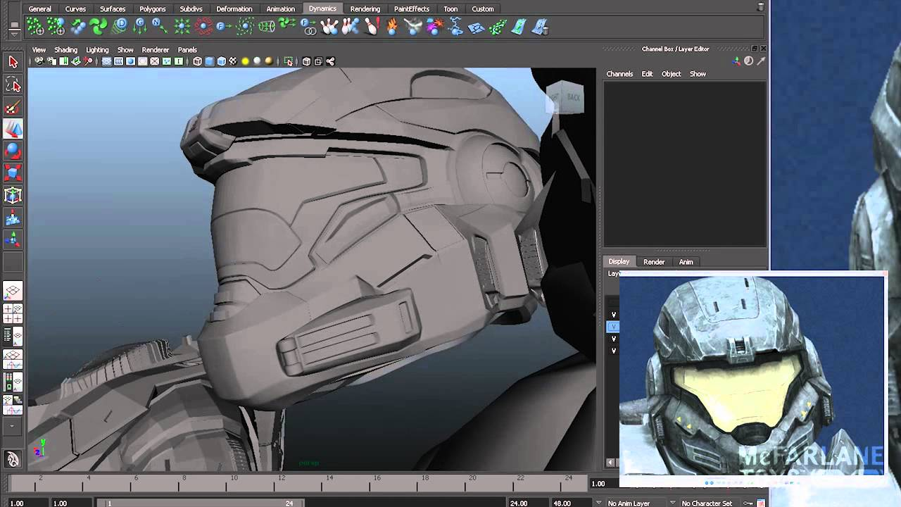 Making Of A Halo Figure Intro 3d Models 1 Of 3 Youtube