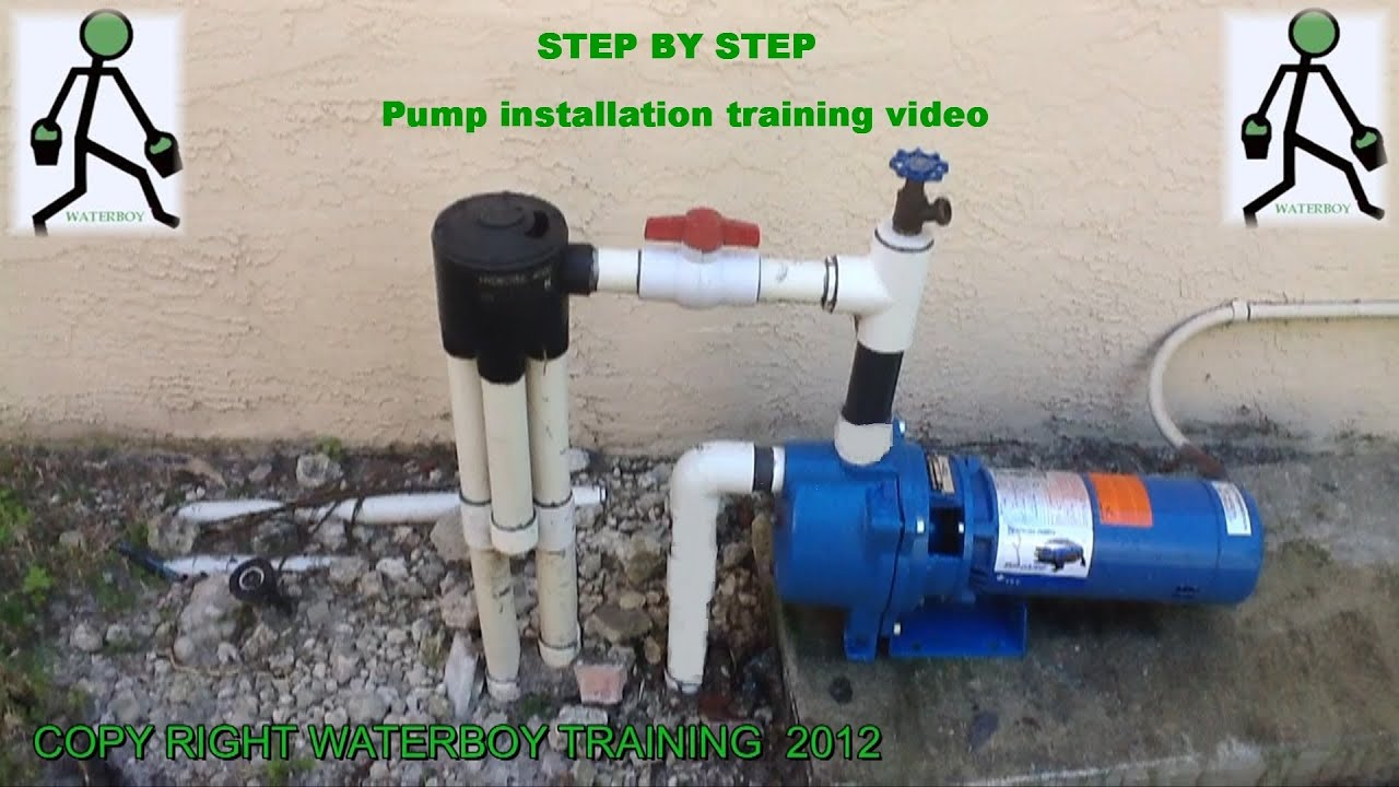 How To Install A Lawn Sprinkler Pump Youtube