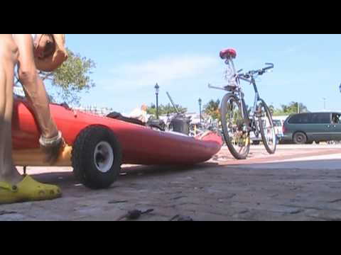 2010 DIY Bike hitch / Kayak Cart.wmv