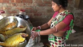Download Indian Village Aunty Cooking Prawn Sea Fish Fry | Amazing Taste Street food Preparation 2017 3Gp Mp4