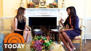 Michelle Obama, Melania Trump Talk Raising Children In White House | TODAY