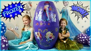 BIGGEST SURPRISE EGG Ever! FROZEN Surprise Toys Eggs Disney Frozen Elsa and Anna