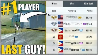 The Last Guy In MY GAME Was RANK #1! // But WHO WON?! // Rules of Survival