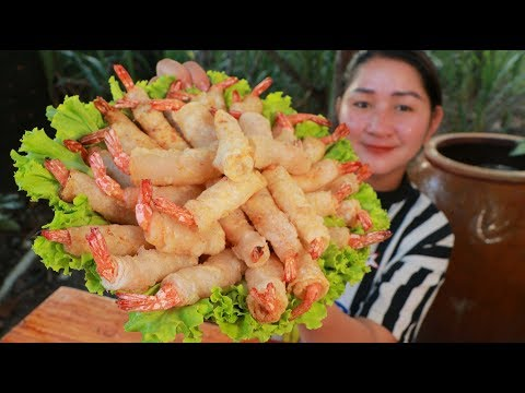 Tasty Shrimp Rolling Rice Pepper - Cooking With Sros
