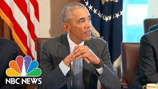 President Obama At Intelligence Meeting: We Seek