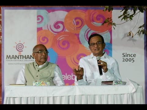 P Chidambaram on 'Standing Guard: One Year in Opposition' at Manthan