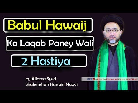 Babul Hawaij ka Laqab Paney Wali 2 Hastiya | Masaib by Allama Syed Shahenshah Hussain Naqvi