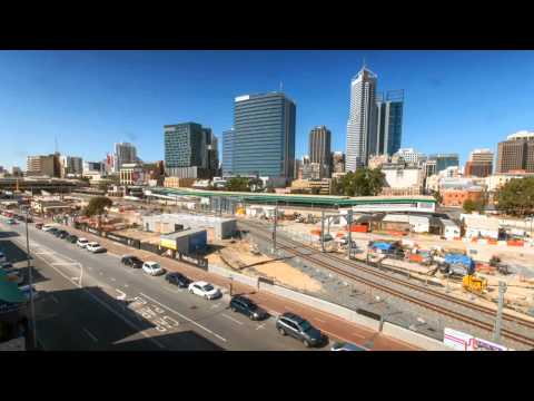 Perth City Link works time lapse footage (east)