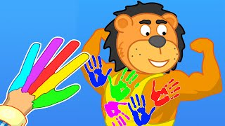 Lion Family | Wash your Hands #6. Hand Prints on the Back | Cartoon for Kids