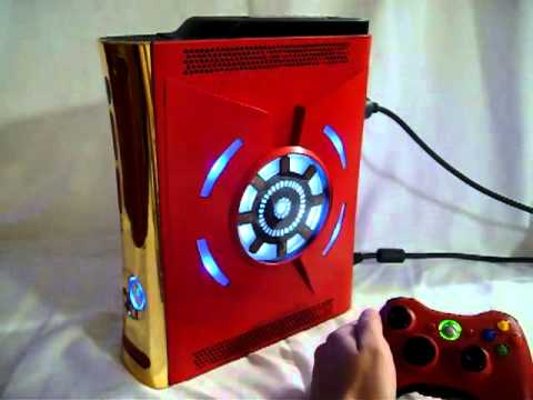 Custom Red Ironman Xbox 360 HDMI Falcon 120G Hard Drive