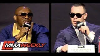 Colby Covington, The King of Brazil, Mixes It Up with Kamaru Usman at UFC 25 Anniversary Presser
