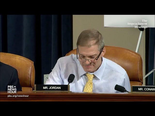 WATCH Rep. Jordan39s full questioning of Bill Taylor  Trump impeachment hearings