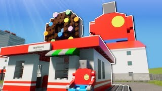 DONUT MYSTERY POLICE INVESTIGATION! -  Brick Rigs Multiplayer Gameplay - Lego Police Roleplay