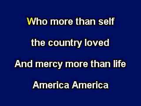 America The Beautiful, Patriotic Music, Karaoke Video with on screen lyrics