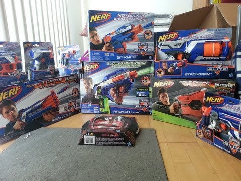 Unboxing a Package from Nerf (Pick the next Review!) (Winter 2012/2013 Line)