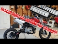 Headlight on Pit Bike install without any batteries