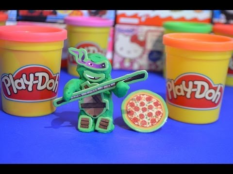 Play-doh Teenage Mutant Ninja Turtle TMNT Play-doh Creation Play Dough Fun ideas AMAZING !!!