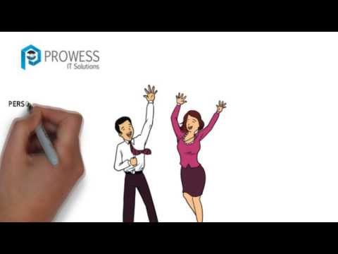 Whiteboard animation video for a recruitment service website
