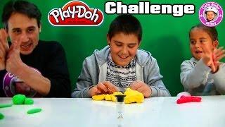 Play-Doh Knetme Challenge - wer kann besser kneten? - Kinderk
