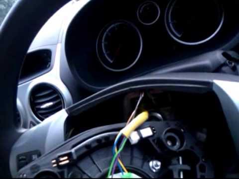 vauxhall corsa 2012 remove steering wheel - YouTube