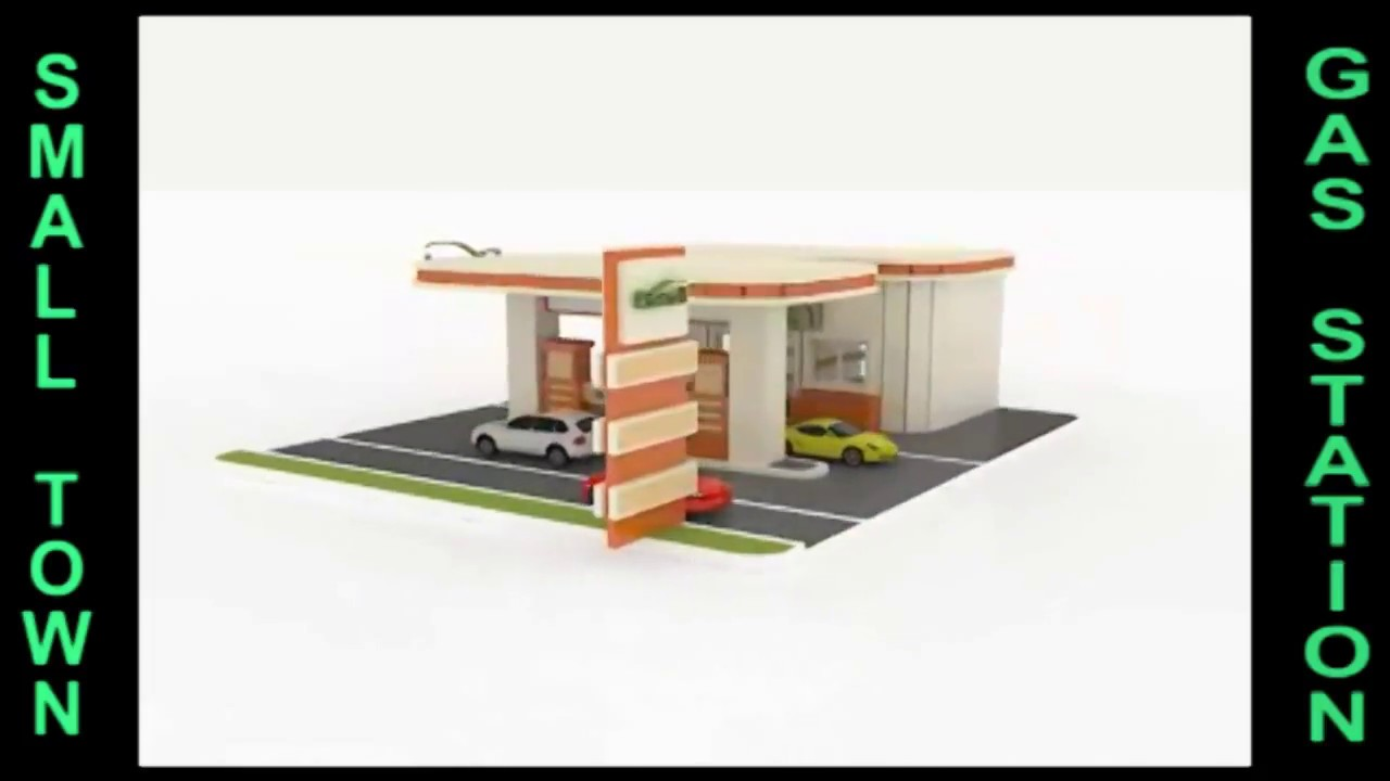 Wood Toy Gas Filling station plans CNC laser cutting - YouTube