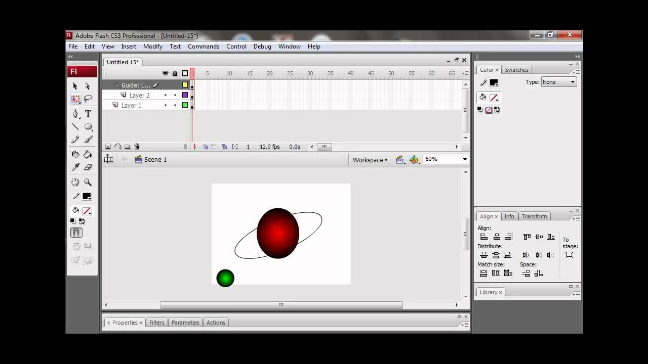 Tutorial Animasi Adobe Flash CS3 : Rotasi Bumi