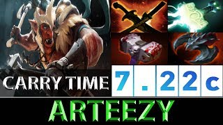 Arteezy [Troll Warlord] Carry Time RTZ Style ► Dota 2 7.22c
