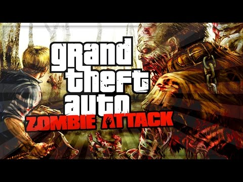 GTA 5 Online - Zombie Apocalypse Mission Online [GTA 5 Funny Moments] (iCrazyTeddy Custom Games)