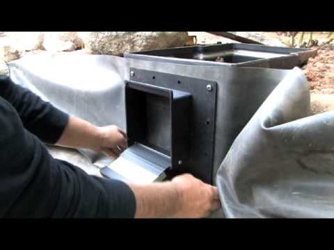 Pond skimmer installation how to youtube for Pond filter installation