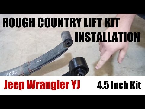 Jeep Wrangler YJ Rough Country Lift Kit Installation - 4.5 inch kit for Jeep YJ  Tutorial + Review