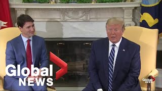 Donald Trump, Justin Trudeau discuss trade, China, and Iran in Oval Office meeting