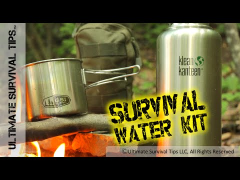 NEW! Survival Water & Filter Kit for Bug Out - EDC - Emergency - Sawyer / Klean Kanteen / GSI