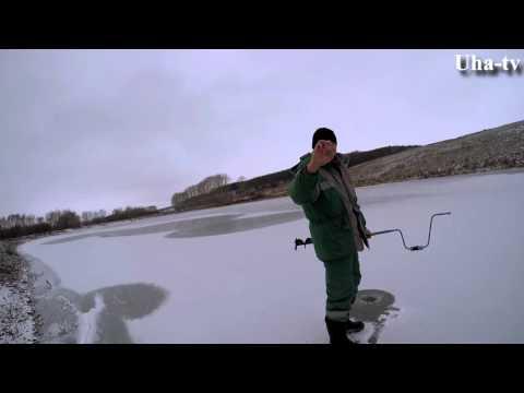 Рыбалка по первому льду 17.11.2015. Ловля окуня. Uha-tv