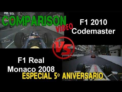 F1 2010 Codemasters vs F1 Monaco Real Rain – 5º Aniversario – Digiprost