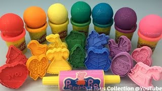 Rainbow Colours Play Doh Sparkle Balls with Assorted Molds Fun and Creative for Kids