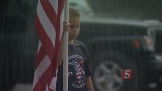 11-Year-Old Hopes Viral Photo Causes People To Join Patriot Guard