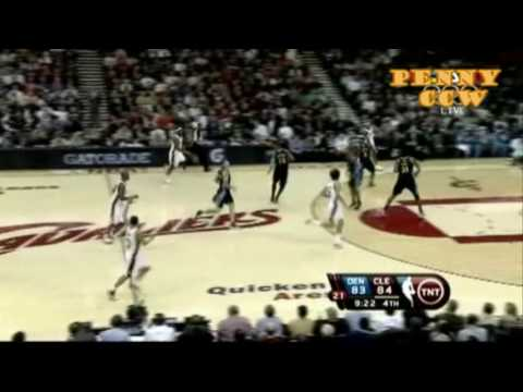 Carmelo Anthony 40pts vs LeBron James Triple Double 09/10 NBA *Exciting game!! Video