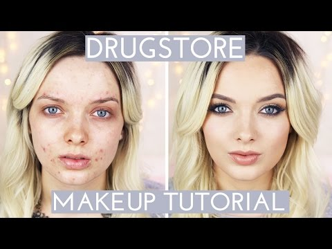 Acne Coverage // Drugstore Makeup Tutorial // MyPaleSkin