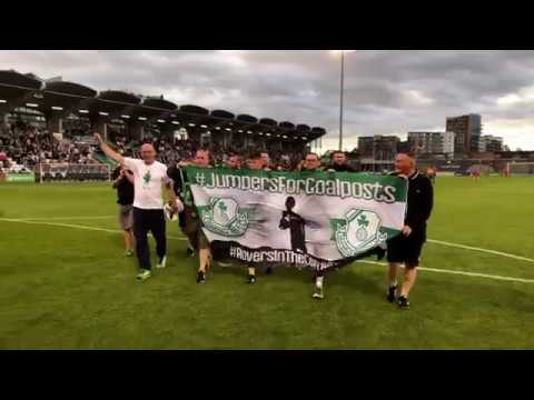 Jumpers for Goalposts Shamrock Rovers 18 07 2019