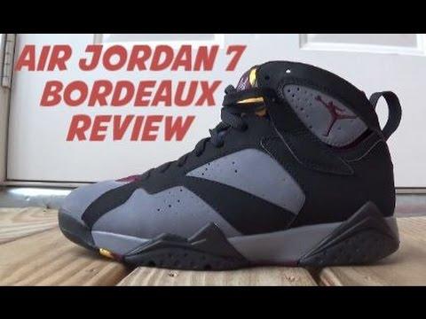 Air Jordan 7 Bordeaux Sneaker Review + On Foot
