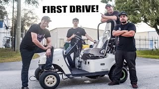 FIRST DRIVE In Our 600cc Golf Cart!