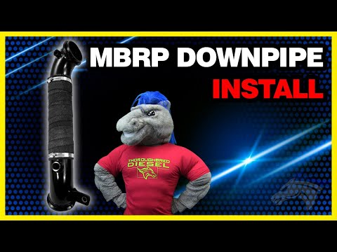 MBRP Downpipe Install - 2011 Chevy Duramax LML #GM8427