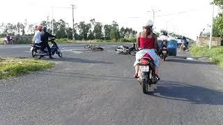 Tai nạn giao thông,ngay đầu lộ xuyên á Thái Bình