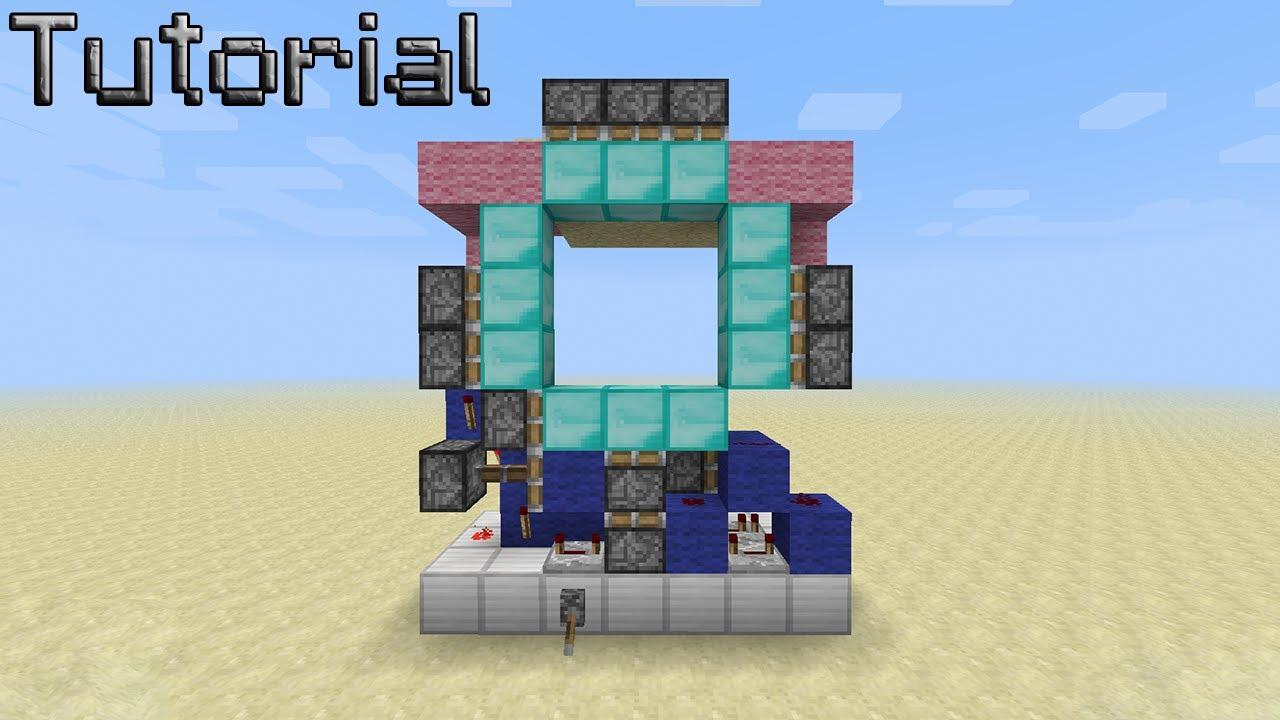 Compact 3x3 spiral door 1 8 6 youtube for 3x3 door design & Super Compact 3x3 Piston Door Minecraft Redstone Tutorial Of 3x3 ...