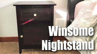 Winsome Wood Beechwood Espresso End/Accent Nightstand Table assembly and review