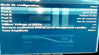 طريقة اعداد DiSEqC على الجهاز Dream box 800HD DVR